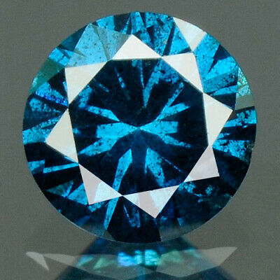 0.19 cts. CERTIFIED Round Cut Deep Royal Blue Color Loose Natural Diamond 10304