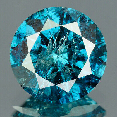 1.33 cts. CERTIFIED Round Cut Vivid Royal Blue Color Loose Natural Diamond 11802