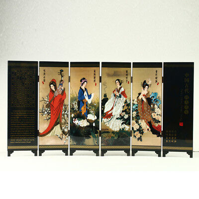 China Lacquerware Handwork China Ancient Four Beauties  Screen R3018