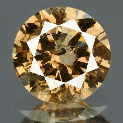 0.92 cts. CERTIFIED Round Cut Sparkly Brown Color Loose Natural Diamond 13225