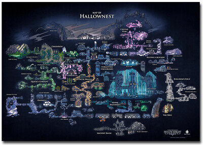 Hollow Knight Map Of Hallownest Poster Print Poster Wallpaper