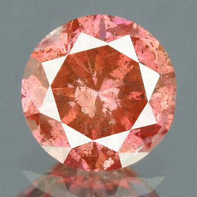 0.33 cts. CERTIFIED Round Cut Vivid Rose Pink Color Loose Natural Diamond 11938