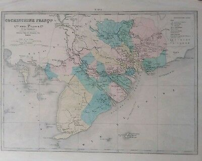 Antique map of French Protectorates in SE Asia by Abel Pilon & Cie, Paris