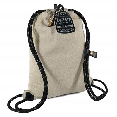 LOCTOTE Flak Sack Sport - Lightweight Theft-Resistant Drawstring Backpack | | |
