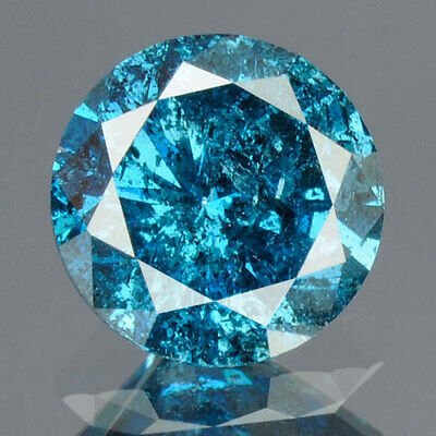 0.73 cts. CERTIFIED Round Cut Vivid Royal Blue Color Loose Natural Diamond 13308