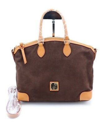 c3d17f77d186 NWT Dooney   Bourke Brown Nubuck Suede Leather Satchel Shoulder Bag New  298