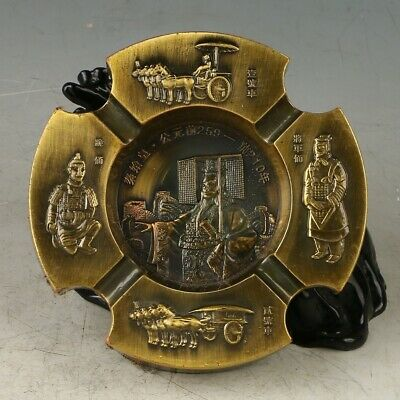 Exquisite Hand-made First Emperor of Qin Ashtray MY0651