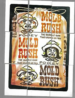 1974 Topps Wacky Packages Original 6th Series 6 Complete Puzzle Mold Rush