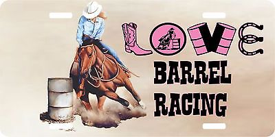 Cowgirl Love Cilindro Racing Rodeo Western Equestre Targa Camion Auto Targhetta
