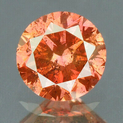 0.15 cts CERTIFIED Round Cut Vivid Purple Pink Color Loose Natural Diamond 11909
