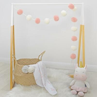 Living Textiles Pom Pom Garland (Blush/White) Free Shipping!