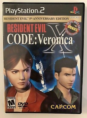 Resident Evil: Veronica X (Sony PlayStation, 2001) PS2 Game & Devil May Cry Demo