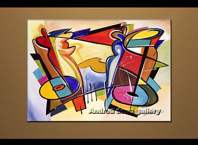 Large Modern Abstract oil painting Alfred Gockel Repro on Canvas Wall Art A1513