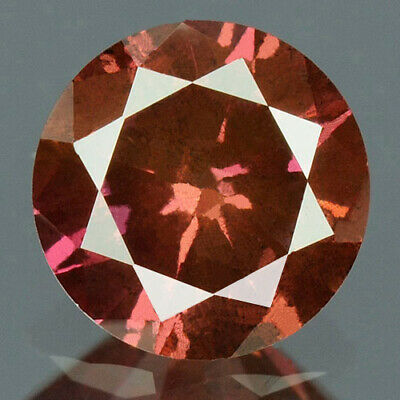 0.38 cts CERTIFIED Round Cut Vivid Purple Pink Color Loose Natural Diamond 12013