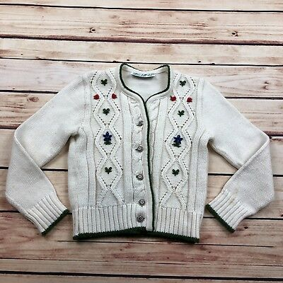 Vintage Marshall Fields Toddler Knit Cardigan Sweater Size 4T 5T ??? MEASURED