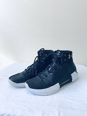 362ad0956136c5 Under Armour Drive 4 Mens Basketball Shoes Black Gold White Size 9 UA High  Top