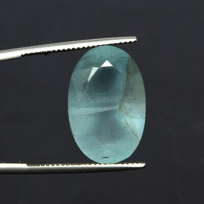 15.0 Ct. Certified Natural Oval Cut Aquamarine Faceted Loose Gem For Ring DZ-233