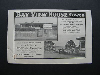 Bay View House Cowes Charles Mathews