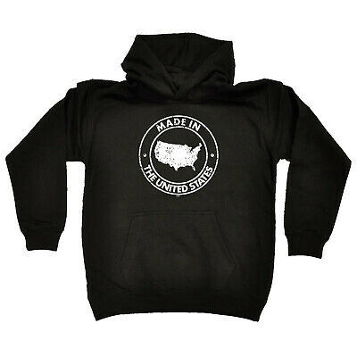 Funny Kids Childrens Hoodie Hoody - Made In The United States