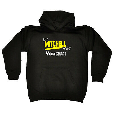 Funny Kids Childrens Hoodie Hoody - Mitchell V1 Its A Surname Thing