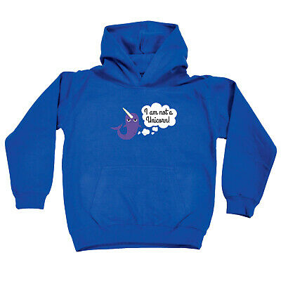 Funny Kids Childrens Hoodie Hoody - I Am Not A Unicorn