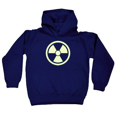 Funny Kids Childrens Hoodie Hoody - Radioactive Glow In The Dark