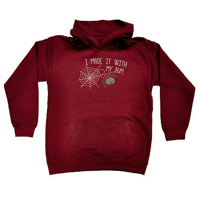 Funny Kids Childrens Hoodie Hoody - I Made It With My Bum