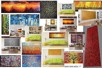 Painting 120cm x 40cm COA Canvas print Aboriginal inspired Art By Jane Crawford