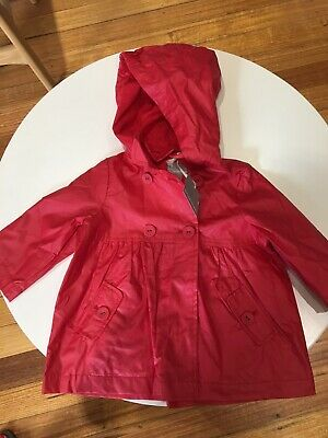 Red Baby Girl Jacket Size 12 Months Brand New