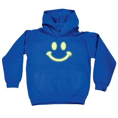 Funny Kids Childrens Hoodie Hoody - Smile Face Glow In The Dark