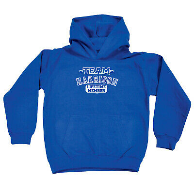 Funny Kids Childrens Hoodie Hoody - Team Lifetime Member All Star Harrison V2