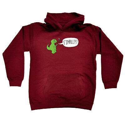Funny Kids Childrens Hoodie Hoody - Trex Finally Selfie Dinosaur T-Rex