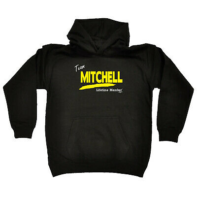 Funny Kids Childrens Hoodie Hoody - Team Lifetime Member Mitchell V1