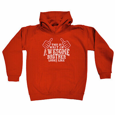 Funny Kids Childrens Hoodie Hoody - This Is What Awesome Brother