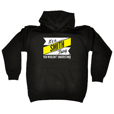 Funny Kids Childrens Hoodie Hoody - V2 Smith Thing Surname