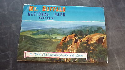 AUSTRALIAN OLD POSTCARD VIEW FOLDER, 1960s MOUNT BUFFALO VICTORIA