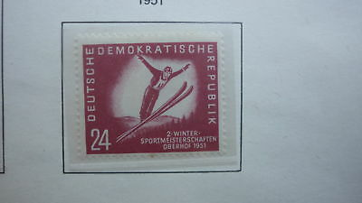 DDR EAST GERMANY STAMP 1951 The Championship of Winter Sports 24 MINT