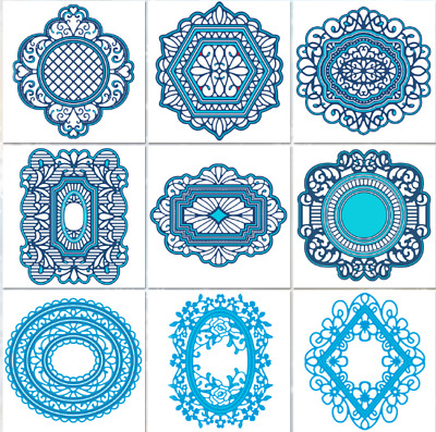 Lace Border Frame Metal Cutting Die Stencils Scrapbook Embossing Paper Craft Set