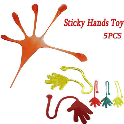 5pcs Kids Sticky Hands Palm Party Favor Toys Novelties Prizes Birthday Gift