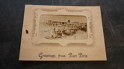 AUSTRALIAN OLD SOUVENIR GREETING CARD, 1930s PORT PIRIE SOUTH AUSTRALIA