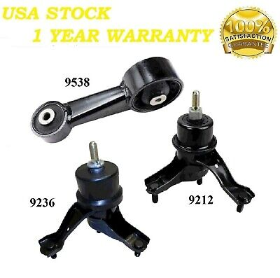 07-12 for Toyota Camry Avalon 3.5L for Auto. Engine Motor /& Trans Mount 3PCS