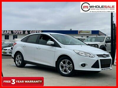 2014 Ford Focus LW MKII Trend Sedan 4dr PwrShift 6sp, 2.0i White Automatic A