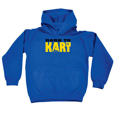 Funny Kids Childrens Hoodie Hoody - Born To Kart
