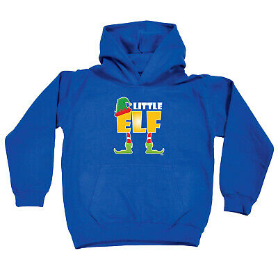 Funny Kids Childrens Hoodie Hoody - Christmas Elf Little