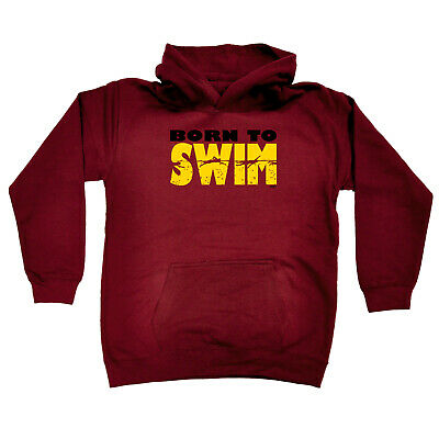 Funny Kids Childrens Hoodie Hoody - Born To Swim