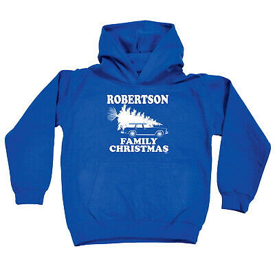 Funny Kids Childrens Hoodie Hoody - Family Christmas Robertson Surname