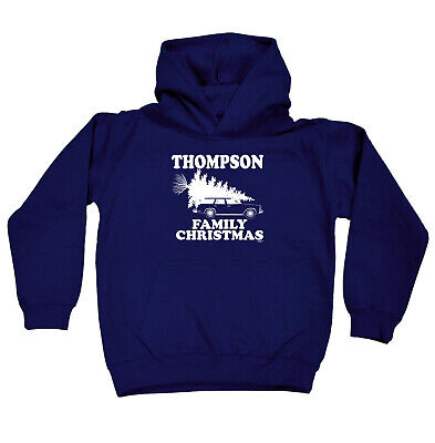 Funny Kids Childrens Hoodie Hoody - Family Christmas Thompson Surname