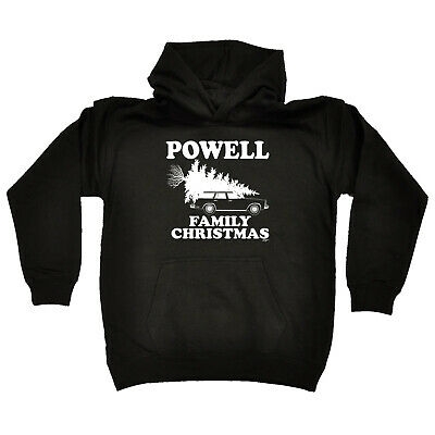 Funny Kids Childrens Hoodie Hoody - Family Christmas Powell Surname