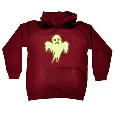 Funny Kids Childrens Hoodie Hoody - Ghost Glow In The Dark