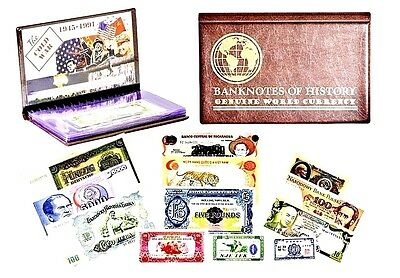 The Cold War  A Collection of Twelve Soviet  Banknotes  Folio In Display Book